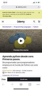 Udemy: cursos gratis Python CRUD con blazor etc.