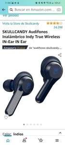 Amazon: SKULLCANDY Audifonos Inalámbrico Indy True Wireless IN-Ear IN Ear