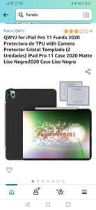 Amazon: Funda iPad Pro 11 2020 + protector de cámara