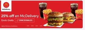 Didi food: envío gratis para MCDONALDS