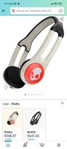 Amazon: SKULLCANDY Audifonos Inalámbrico Icon Wireless ON-Ear ON Ear, Piedra, Talla Única