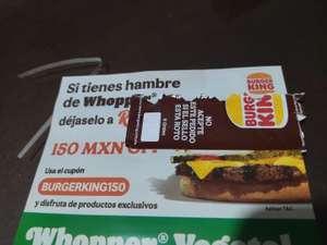 Rappi Burger King $150 Descuento