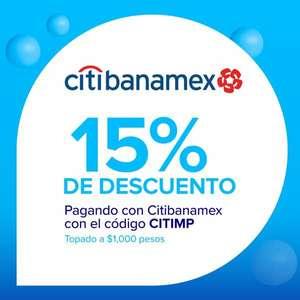 15% de descuento con MERCADOPAGO + MSI CITIBANAMEX