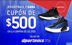 Dportenis - Cupón de $500 en la compra de $2000