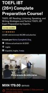 UDEMY: TOEFL iBT (26+) Complete Preparation Course