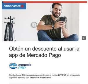 Citibanamex - Obtén un descuento al usar la app de Mercado Pago hasta $90
