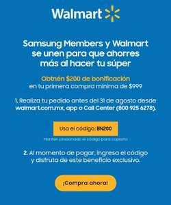 Samsung y Walmart Descuento de $200 para el súper