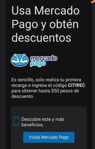MERCADO PAGO Descuento de 50 pesos en recargas telefónica. usuarios seleccionados