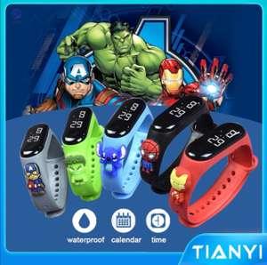 Shopee: Relojes Digitales para niños de Marvel, Disney,Pokémon y más de 50 modelos diferentes ( envío gratis)