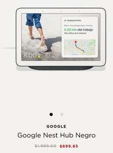 El Palacio de Hierro: Google Hub Nest Negro