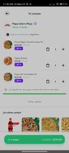 Rappi: 2 pizzas y unas papas en Papa jhons por 153 pesitos más envío (usuarios seleccionados)