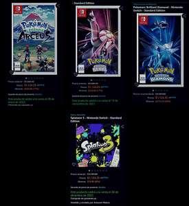 Amazon: Pokémon Legends Arceus o Pokémon Diamomd/Pearl - Nintendo Switch (preventas)