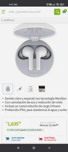 Sam's Club Audífonos Inalámbricos LG Tone Free Earbuds Blanco