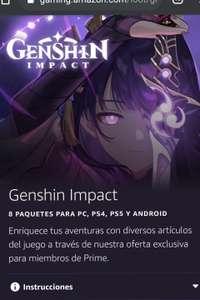 Genshin impacto prime gaming recompensa #3