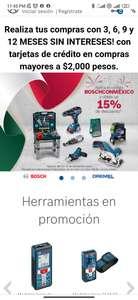 Bosch: 15%de descuento en tienda en línea bosch