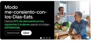 Uber Eats: 50% Descuento en tus próximos 2 pedidos (usuarios seleccionados)