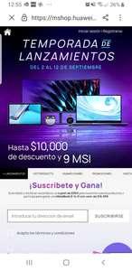 HUAWEI STORE: $10,000 de descuento, 9 MSI Y MAS! MERCADO PAGO