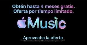 Hasta 4 meses de Apple Music GRATIS
