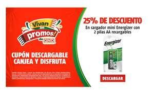 Oxxo: 25% de descuento en cargador + 2 pilas AA Energizer