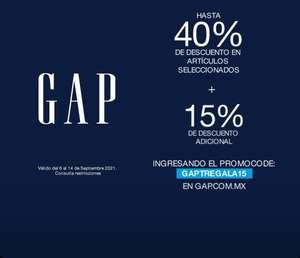 GAP: Hasta 40% más 15% con cupón