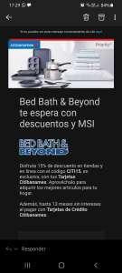 Bed Bath & Beyond: 15% descuento con Citibanamex