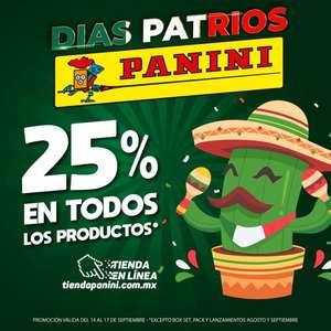 Panini: 25% de descuento en todos los productos