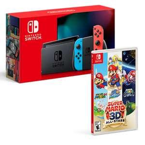 Costco: Nintendo Switch 1.1 Neon Bundle + Super Mario 3D All-Stars