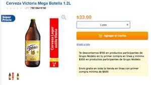 Chedraui: $100 de descuento en productos del Grupo Modelo (compra minima $300) Solo en tu primer compra en linea