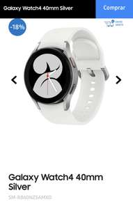 Samsung: Galaxy watch 4 - 40mm Silver (DISPONIBLE DE NUEVO EN COLOR PINK GOLD 15-09-21)