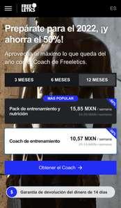 Suscripción a Freeletics al 50% (iOS y Android)