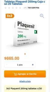 Chedraui: 3 x 2 en Plaquenil 200 mg tabletas c/20