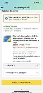 Amazon: Aderogyl 5 ampolletas