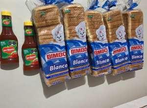 RAPPI 5 bolsas de pan Bimbo Grande y 2 Botellas de Captup de Monte por poco mas de $100