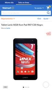 Walmart: Tableta lanix rx7 en 1199 promo hasta el 19/09