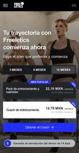 Suscripción a Freeletics con -30% (iOS y Android)