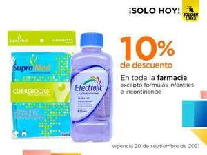 Chedraui: 10% de descuento en toda la Farmacia (Exclusiva tienda en línea)