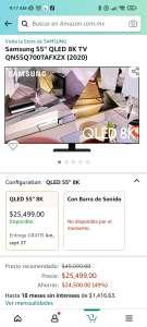 "Amazon: Samsung 55"" QLED 8K TV QN55Q700TAFXZX (2020)"