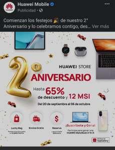 Huawei: Ofertas por 2o aniversario