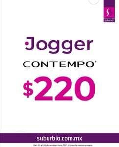 Suburbia: Artículo de la Semana del Lunes 20 al Domingo 26 de Septiembre: Pantalón Contempo tipo Jogger $220