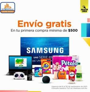 Chedraui: Envío gratis en tu primer compra mínima de $500 en tienda en línea