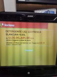 Soriana Detergente líquido 123 4.6 litros