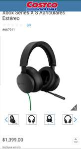 Costco: Xbox Series X S Auriculares Estéreo