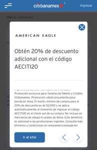 20% de descuento en American Eagle con Citibanamex