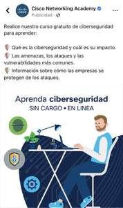 Cisco Networking Academy - Curso gratuito de Ciberseguridad