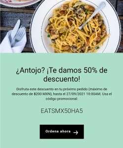 Uber Eats 50% DESCUENTO PRÓXIMO PEDIDO (Usuarios Seleccionados)