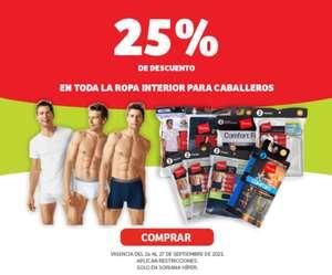 Soriana Híper: 25% de descuento en toda la ropa interior para caballeros