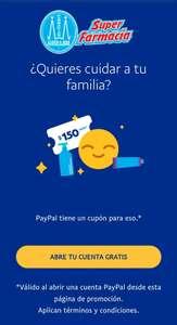 Paypal: cupón de $150 para farmacia Guadalajara (usuarios nuevos)