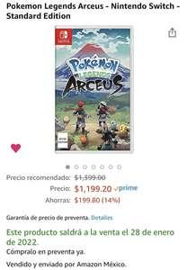 Amazon, Pokemon Legends Arceus - Nintendo Switch - Standard Edition