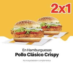 McDonald's: 2x1 Hamburguesa Pollo Clásico Crispy