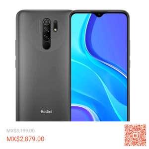 Shopee: Xiaomi Redmi 9 Global 4GB 64ROM 5020mAh, envio nacional por estafeta, vendido por tienda oficial